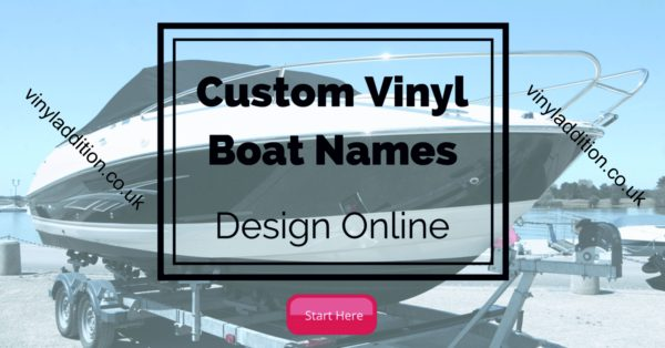 Boat Name Stickers - Custom Vinyl Lettering for your boat
