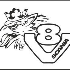 Man truck Lion logo made from quality vinyl - Vinyl Addition