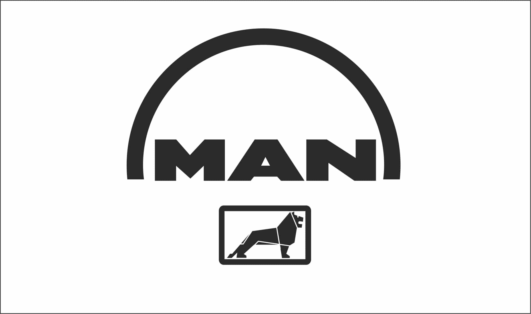 Man truck lorry logo sticker